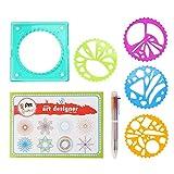Garosa Children Plastic Geometric Ruler Template Spiral Drawing Tool Art Toy Kids Stationery Supply