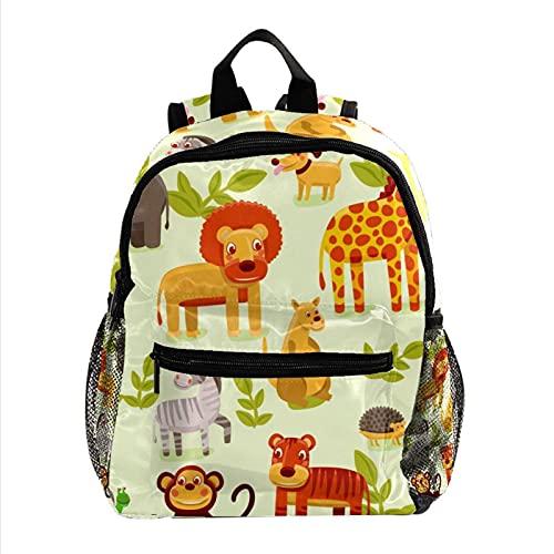 Liangbaiwan Mochila para adolescentes niñas niños mochila ligera mochila de viaje mochila zoológico de animais Impresión de sacos