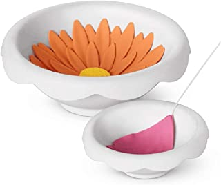 EORTA 3 Set/6 Pcs Drying Molds Fondant Flower Shaping Bowl Mold Over Sized Flowers Drying Mould Holder Chewing Gum Paste Fondant Forming Cups for Cake Dessert Decoration, White, Dia.10 CM and 6.5 CM