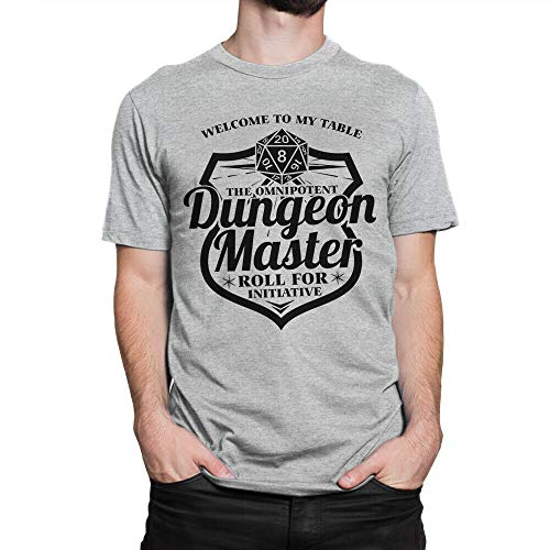 Welcome to My Table Dungeon Master T-Shirt, Dungeons & Dragons Tee Grey 2XL