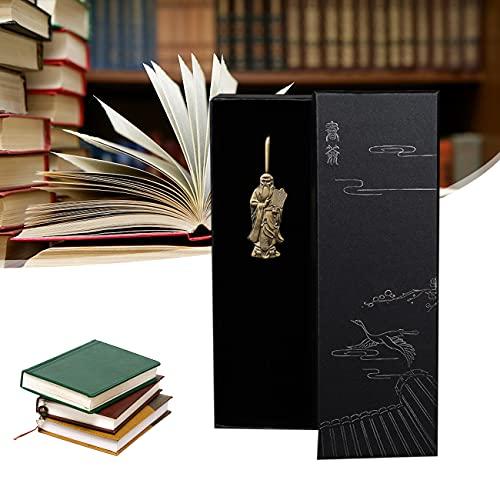 Ashtray Dao Religion China Lao Tzu Bookmark, High-Grade Alloy Bookmarks, for Birthdays, Holidays, Festivals, Book Clubs