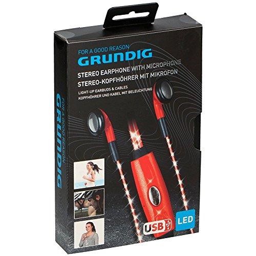 GRUNDIG IE436, Red Headset, Rot Kopfhörer