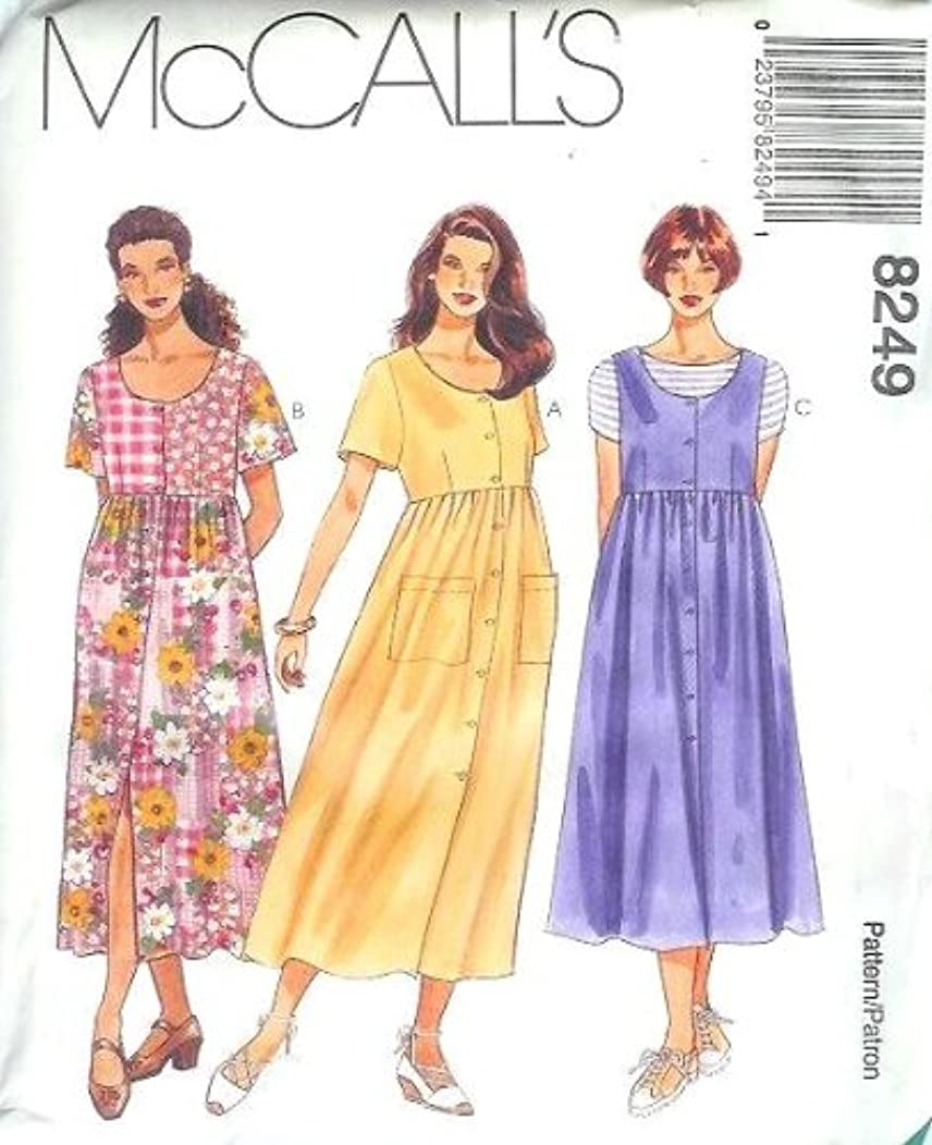 McCall's Sewing Pattern 8249 Misses' Half Size Dress or Jumper, L (Size 10 1/2 - 12 1/2 - 14 1/2)