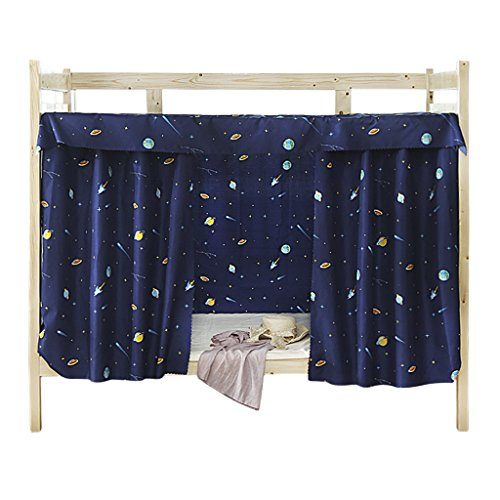 JIAHG Students Dormitory Bunk Bed Curtains Single Bed Tent Curtain Shading Nets Dustproof Blackout Cloth Bed Canopy Mosquito Protection Net Bedroom Cabin Decor Mid-Sleeper Spread Blackout Curtains