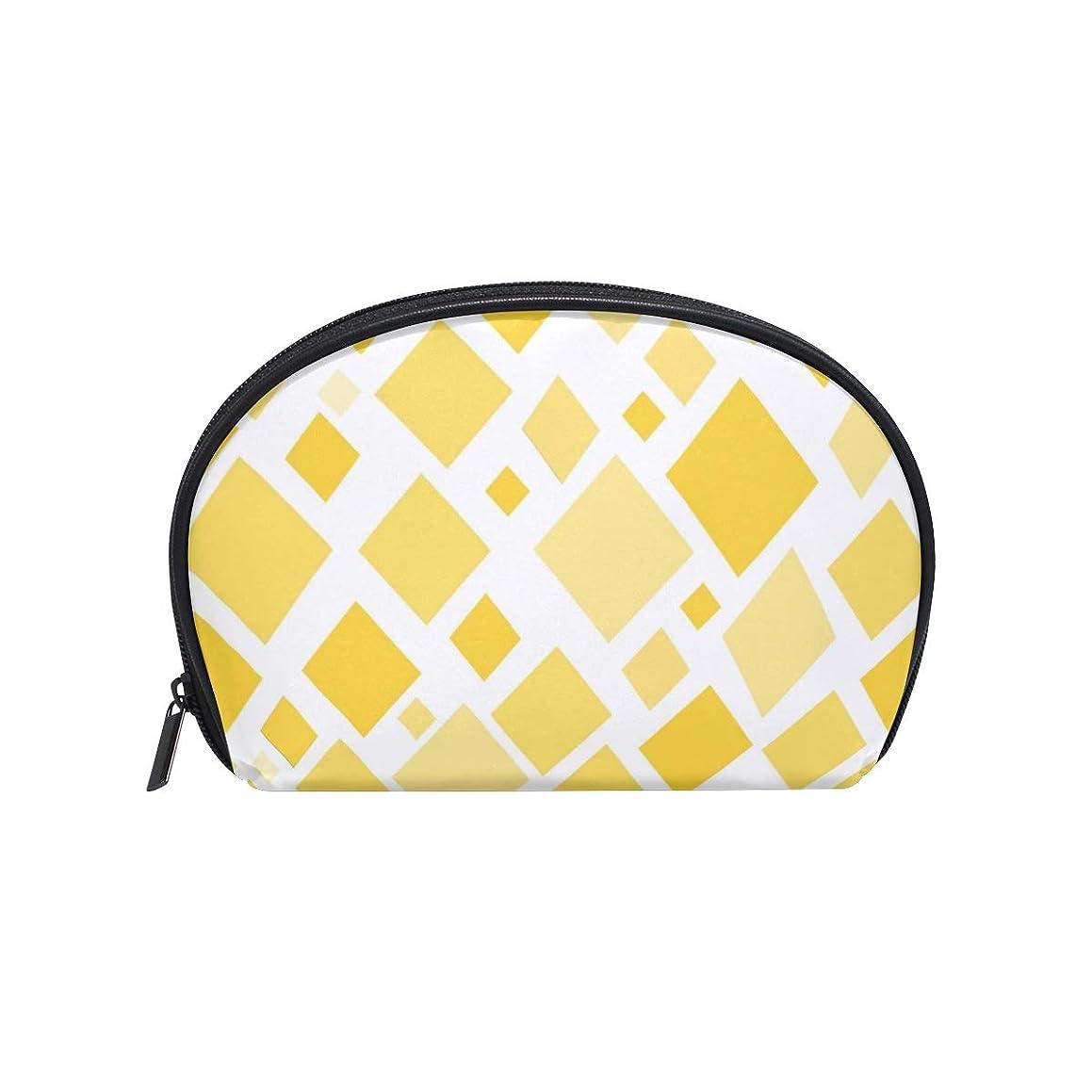 エール空スケルトン半月型 日光 黄 ダイヤモンド 化粧ポーチ コスメポーチ コスメバッグ メイクポーチ 大容量 旅行 小物入れ