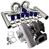 CAIZHIXIANG 3' 76 mm Intercooler Pipe Kit T3 Turbo for N-i-s-s-n- un Safari Patrol TD42 GQ Y60 Y61 A/R 0,70 fría T3T4 GT3582 GT30 A/R 0,63 Universal