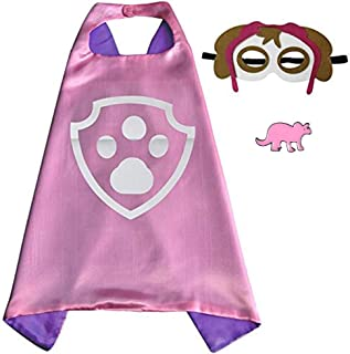 Superhero Cape and Mask Halloween Costume Set for Boys and Girls