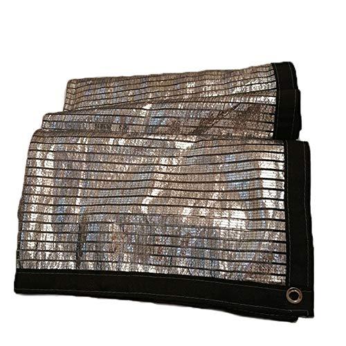 Filet d'ombrage Couvre-sol Feuille d'aluminium Isolation thermique Tarp Shelter Bâche Polyéthylène Crème solaire Refroidir Balcon sur le toit extérieur ( Color : Silver , Size : 4*4m )