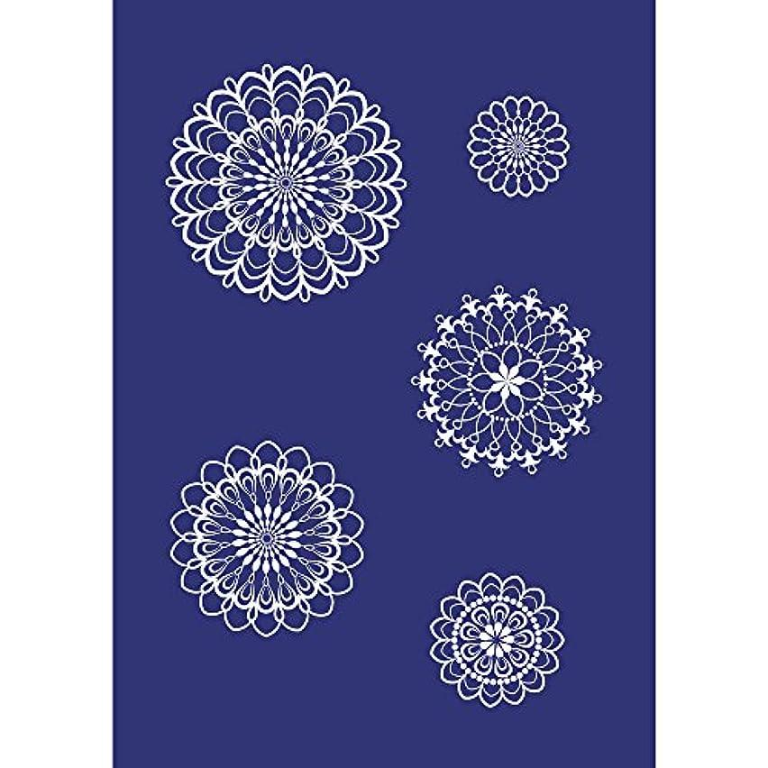 Rayher Stencil Flower Ornaments, DIN A5,1stencil+1Coat. Knife in tab Bag, Multi-Colour, 3.4 x 2.2 x 0.02 cm