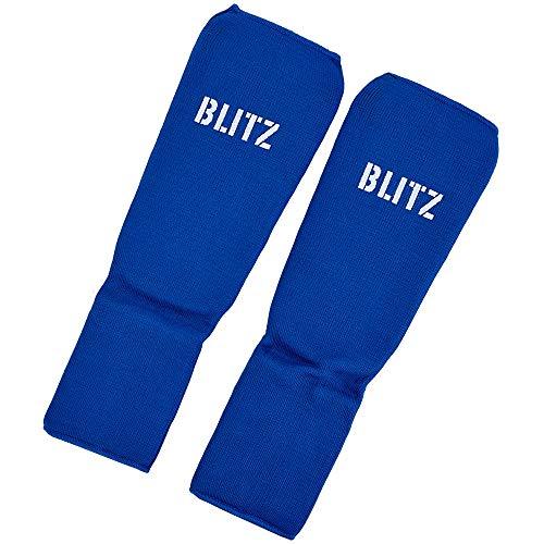 Blitz Elastic Schienbein- und Fußschoner, blau, S