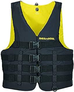 Motion PFD New BRP Sea-Doo Men's Nylon Life Vest Jacket-Adult X Large-Black/Yellow