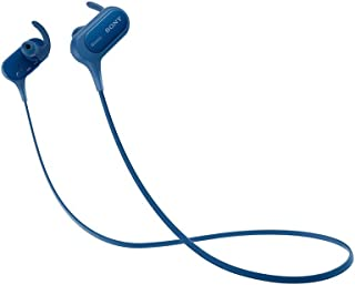 (Renewed) Sony Extra Bass MDR-XB50BS Active Sports Wireless in-Ear Headphones (Blue)