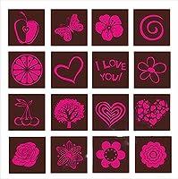 KTAIS 10/20シートの移動、チョコレートの結婚式の装飾、家のベーキングセットケーキの飾りツール、21x29cm (Color : 24, Shape Style : 10 sheets)
