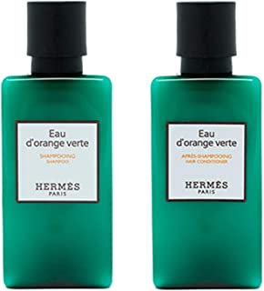 Hermes d'Orange Verte Shampoo and Conditioner Set (Six 1.35 Ounce Bottles / 8.4 Ounces Each of Shampoo and Conditioner) From Hermes Paris