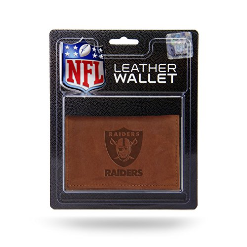 NFL Arizona Cardinals Geldbörse aus Leder, dreifach faltbar, mit künstlicher Innenseite, Fan-Shop, NFL Rico Oakland Raiders Lthr/Manmade Trifold, Teamfarbe, 3.25 x 4.25-inches