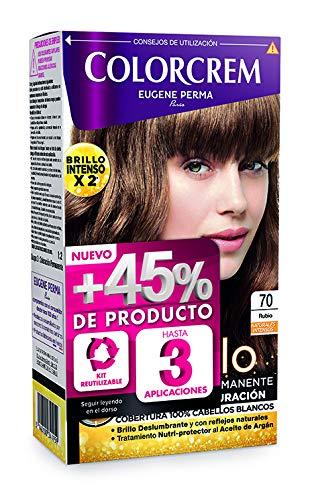 Colorcrem Color & Brillo - Tinte Permanente Mujer - Tono 70 Rubio,...