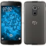 PhoneNatic Case kompatibel mit BlackBerry DTEK60 - Crystal Clear Silikon Hülle transparent + 2 Schutzfolien