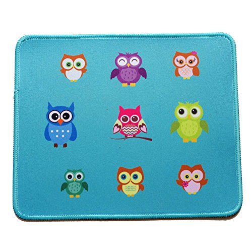 VIVIPOW Cute Owl Pattern Rectangle Non-Slip Rubber Mousepad Gaming Mouse Pad