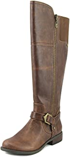 G By Guess Womens Hailee WC Round Toe Knee High Fashion Boots, Brown, Size 7.0