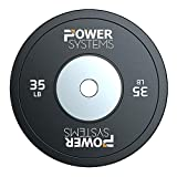 Power Systems Training Bumper Plate - with Reinforced Inner Stainless Steel Disc for Maximum Durability (35)