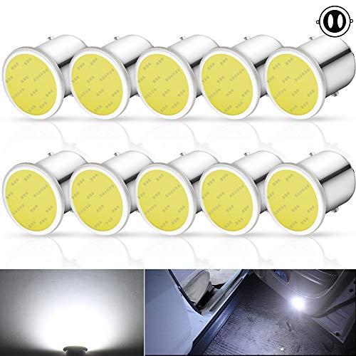 10Pcs 1157 BAY15D P21/5W LED Luz de Freno 7528 2057 2357 2397 Bombillas Led 12V para Luces de Freno Señales de Giro Luces Traseras de Estacionamiento Luces Traseras,Blanco