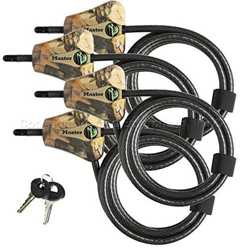 Master Lock–de piel de serpiente ajustable camuflaje Cable Locks # 8418ka camuflaje...