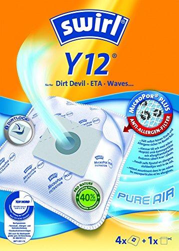 Swirl Staubsaugerbeutel Y12 / Y 12 MicroPor für Alaska, AFK/Germatic, Tristar, Severin Staubsauger