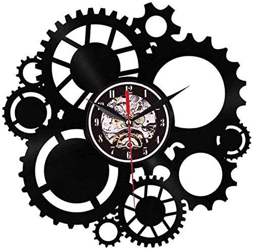 Reloj De Pared Reloj De Pared De Vinilo 1 Pieza Servicio De Coche Herramientas De Garaje Llave De Llantas Reloj De Pared con Registro De Vinilo Reloj De Pared De Servicio Mecánico Reloj De Pared para