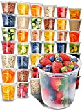 Plastic Containers with Lids (40 Pack, 32 Ounce) - Freezer Containers Deli Containers with Lids -...