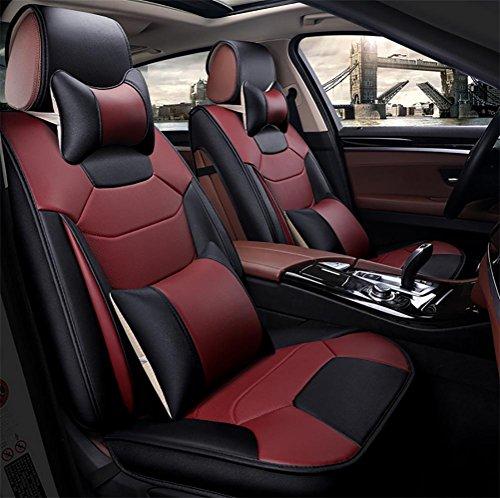 SEAT COVERS RUIRUI Set Copertura Sedile Auto, 5 Pezzi Coprisedili Universali ad Alta qualità in PU Cuoio, W