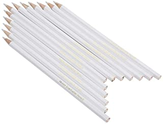 Walfront Tailor's Chalk Pens 12 Pcs White Marking Pencil Water Soluble White Lead Core Pencils Clothing Cutting Wood-cased...