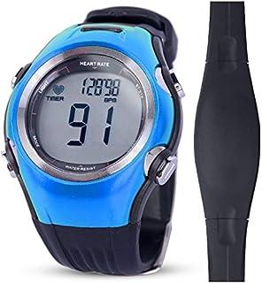 relojes deportivos frecuencia Correr Ciclismo Monitor de ritmo cardíaco Rastreador de ejercicios Deportes inalámbricos digitales Relojes polares Correa para el pecho Hombres Mujeres Reloj deportivo