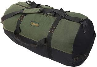 Ledmark Heavyweight Cotton Canvas Outback Duffle Bag, Green, Giant 48