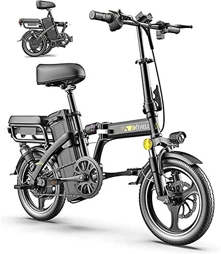 Bicicleta electrica Bicicleta eléctrica Plegable 14'Bicicleta de la Ciudad Plegable de la aleación Ligera de 14' para Adultos Ciudad de la Ciudad Bicicleta Bicicleta para el Ciclismo Deportivo Viajes