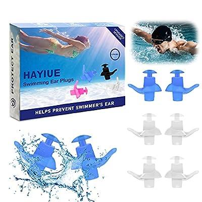 Amazon - 70% Off on Swimming Ear Plugs, HaYiue 4 Pairs Swimmers Earplugs with Double Waterproof