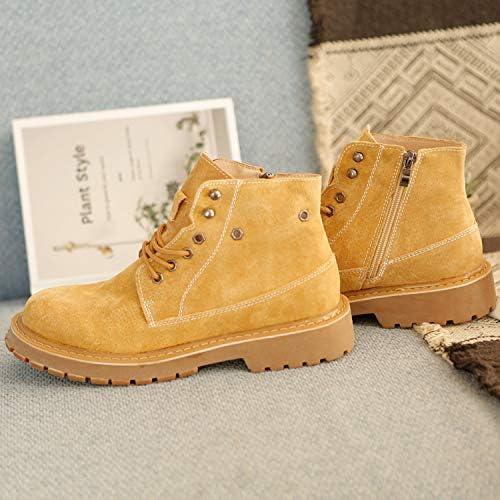 Shukun Herren Stiefel Autumn Martin Stiefel Men& 039;s Versatile Tooling schuhe Men& 039;s schuhe High to Help Gelb Stiefel Men& 039;s Increased Casual Stiefel