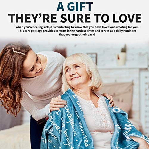 Luxury Care Package for Women Gift Set Cancer, Chemo, Sick, Get Well Soon, Feel Better, Sympathy, Friend, Hospital, Birthday, Comfort Care Packages Basket Words Blanket (You Go Girl Package)