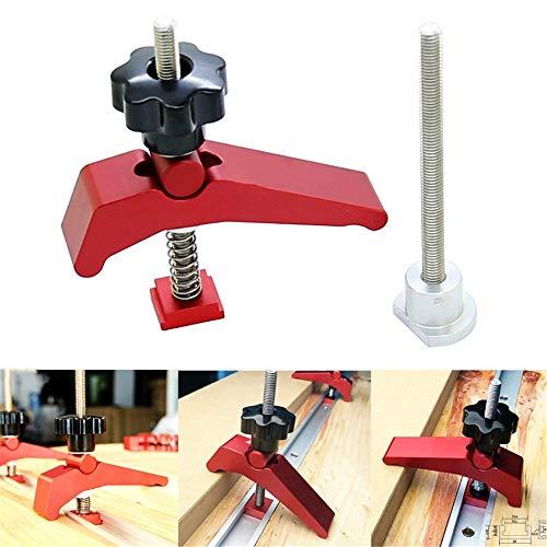 2-teilige Druckplatte aus reinem Aluminiumlegierungsblock für die Holzbearbeitung Druckplatte Rutschenhalter Druckplatte Präzisions-Holzbearbeitungswerkzeuge, verwendet für Fräsmaschinen-Werkbank.
