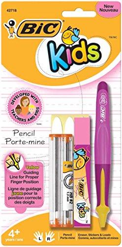 BIC Kids Mechanical Pencil, 1.3mm, Pink Barrel, 1-Count
