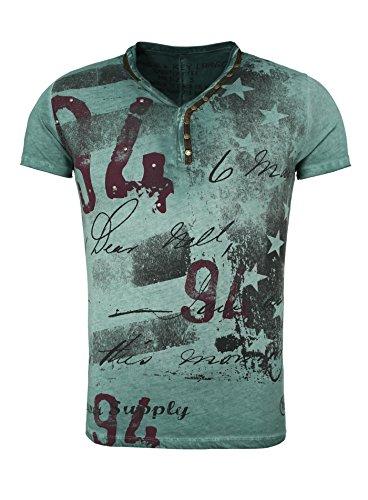 KEY LARGO Hombres T-Shirt Legendary con Remaches en el Vintage Busque Stars Endeble 94 Schriftzug Lima S (Ropa)