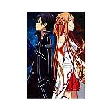 Póster de anime Sword Art Online en lienzo para decoración de pared de 60 x 90 cm, estilo unframe-1