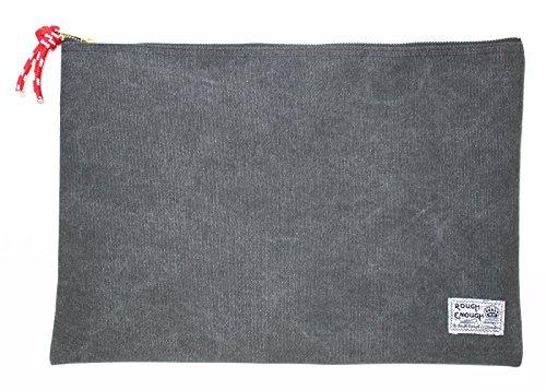Rough Enough Heavy Duty Canvas Durable Fancy Vintage Big Document Pouch with Zipper A4 Size Storage Envelope Holder Large File Folder for Filing Accessorie Pocket Organizer School Business Trip Car