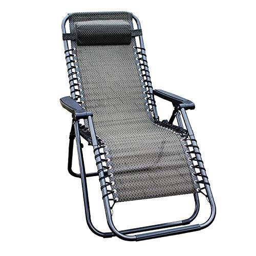 Mojawo Luxus Comfort Gartenstuhl - Relaxsessel - Relaxstuhl - Liegestuhl - klappbar - verstellbar - mit Kopfpolster