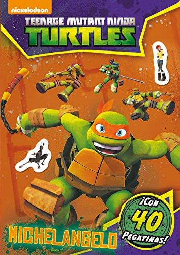 Las Tortugas Ninja. Michelangelo. Actividades con pegatinas
