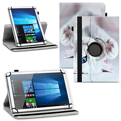 NAUC Tablet Hülle kompatibel für Lenovo Tab Serie 10 10.1 Zoll Tasche Motiv Schutzhülle Hülle Drehbar, Tablet :Lenovo Tab E10