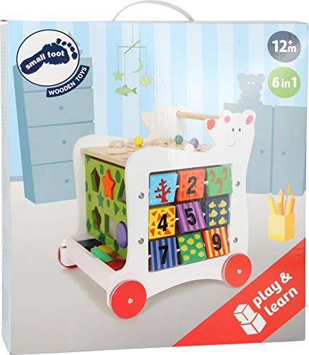"""Lauflernwagen""""Bär"""", Lauflernhilfe aus Holz, vielseitig bespielbares Motorikspielzeug/Lernspielzeug, Babyspielzeug ab 12 Monaten - 5"""