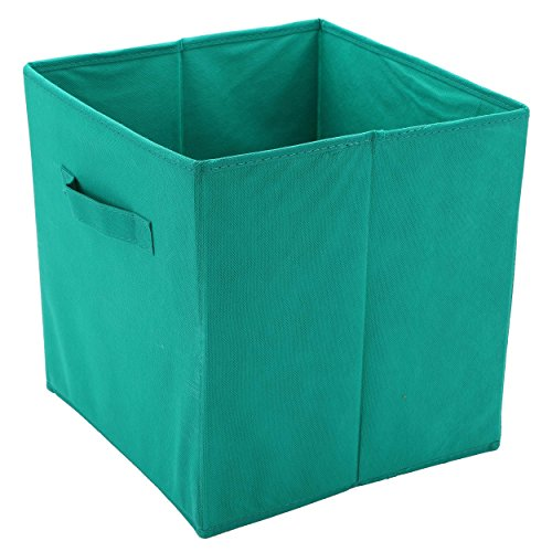 Protenrop Caja de Almacenamiento, Plástico y Poliéster, Verde, 28x27x27 cm