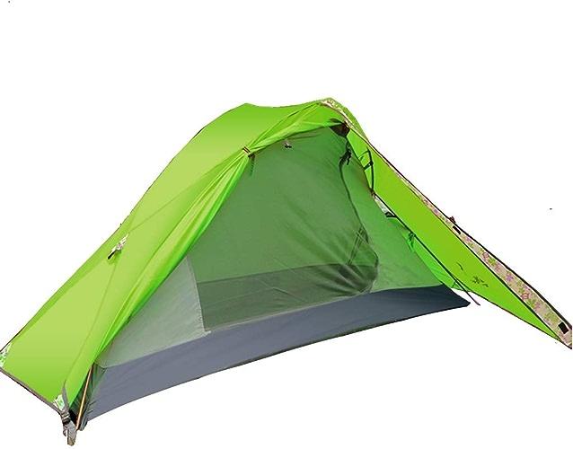 Yunyisujiao Tentes tentes pour Camping Colehomme Tente extérieure Simple Tente Double antiémeute et Coupe-Vent lumière Portable Vitesse Tente de Camping Ouverte (Couleur   vert, Taille   210  110CM)