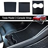 Model 3 Carbon Mittelkonsole Wrap Kit Folie ABS Kunststoff Armlehne Control Panel Dekorative...