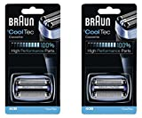 Braun 40B Mens Lámina Eléctrica Cooltec Y Cortador Pack Set Cabeza Recambio...